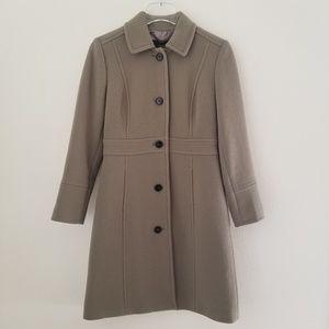J CREW  day coat Italian double-cloth wool 2P